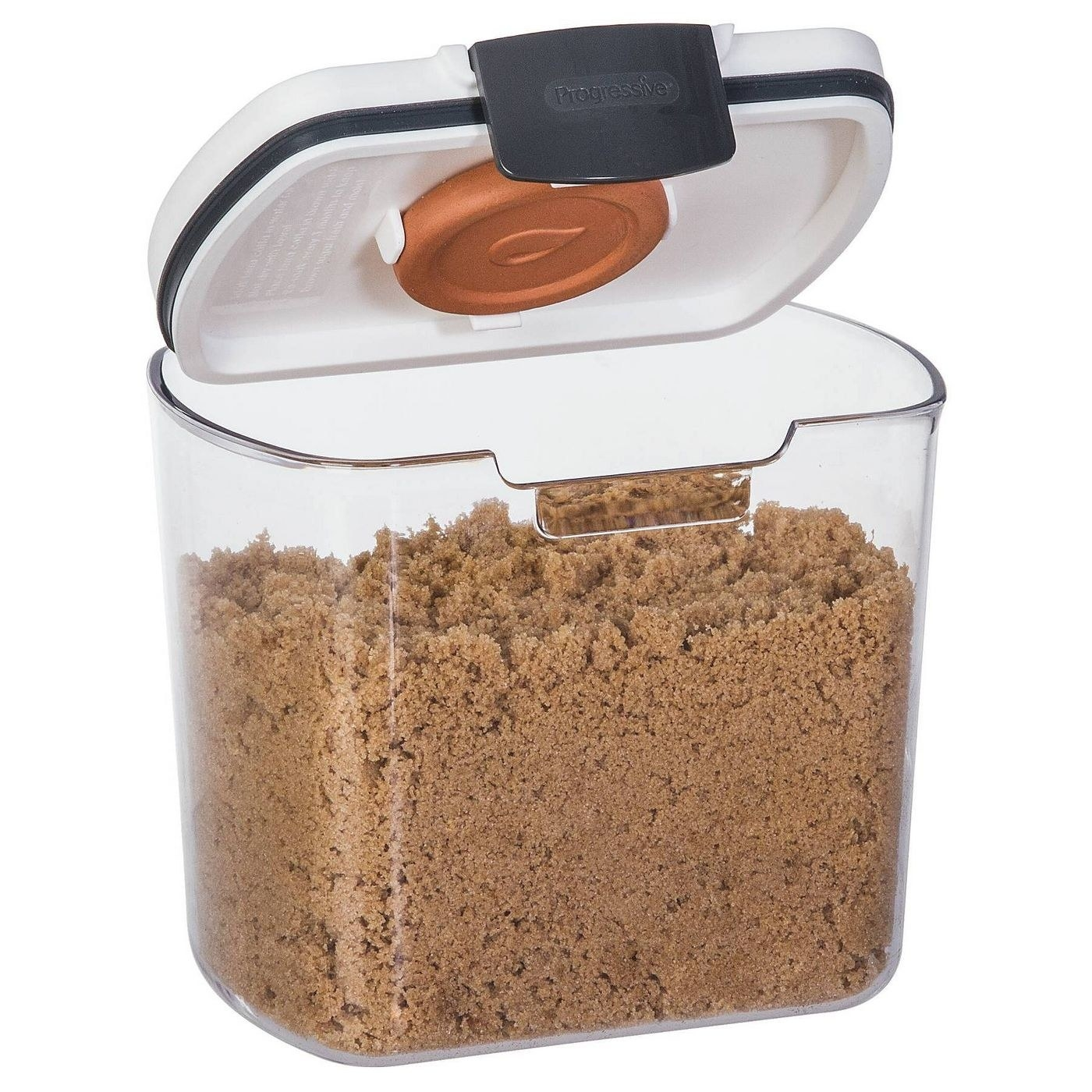 a clear container with brown sugar in it