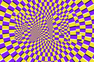 "The word ""fall"" hidden in an optical illusion"