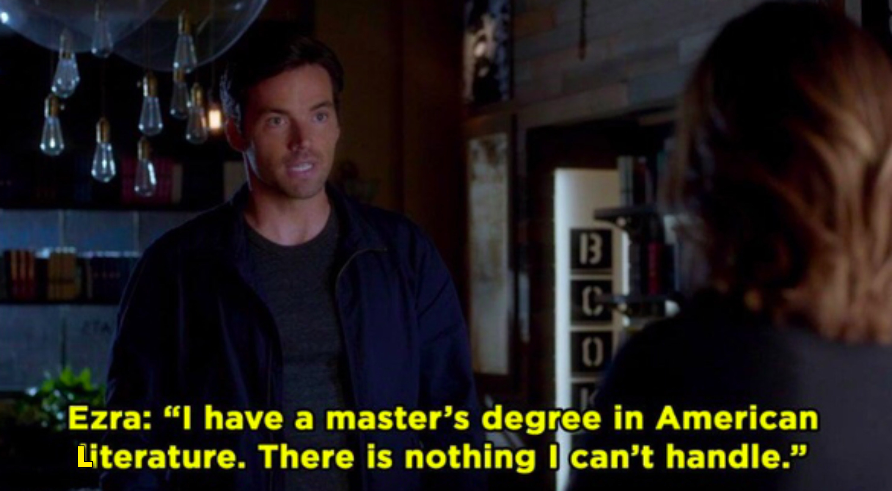 "Ezra: ""I have a master's degree in American literature, there is nothing I can't handle"""