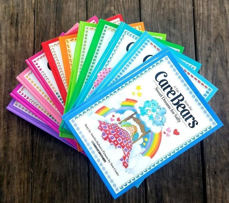 A collection of Care Bears books
