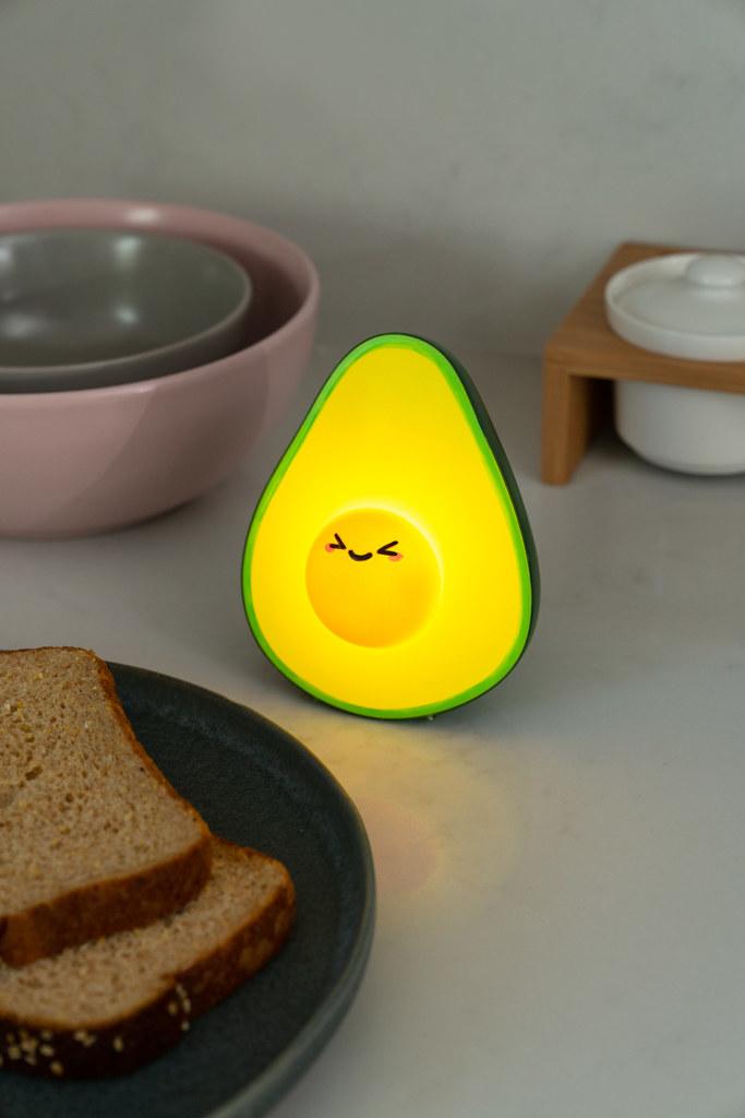 cute avocado light on a breakfast counter