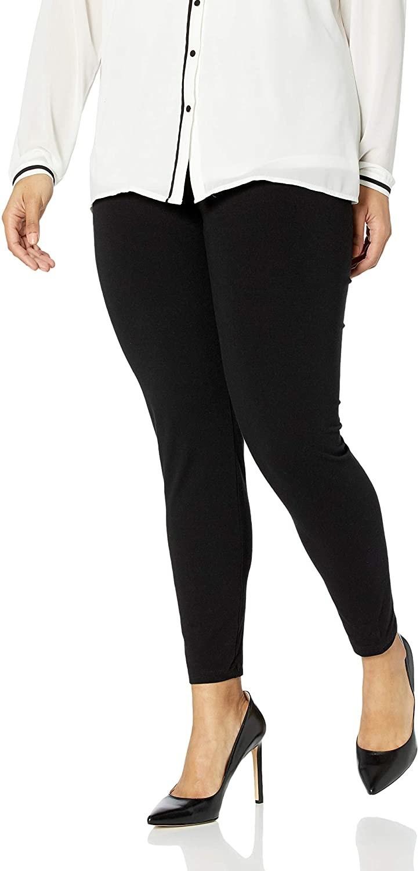 A model wearing solid black leggings