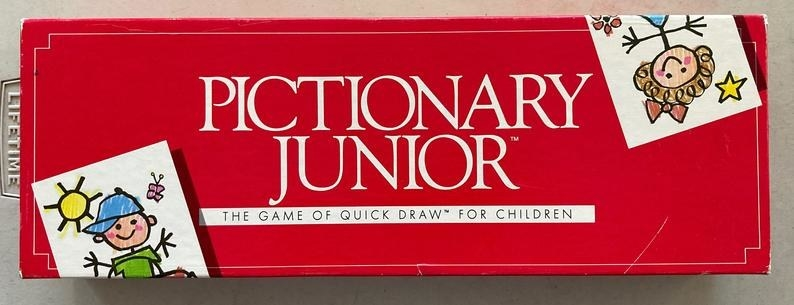 A red box from the '80s of Pictionary Junior
