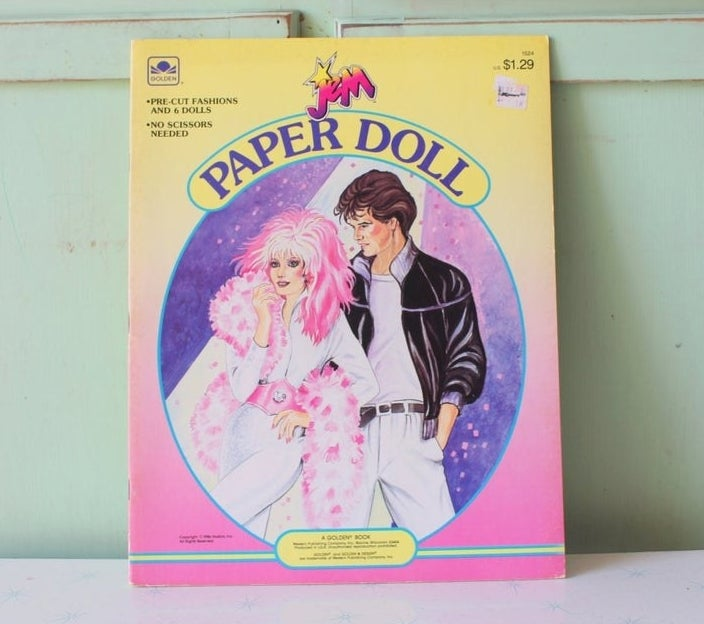 A Jem and the Holograms paper doll book