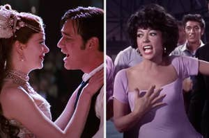 "Side-by-side images of Nicole Kidman and Ewan McGregor in ""Moulin Rouge"" and Rita Moreno in ""West Side Story"""