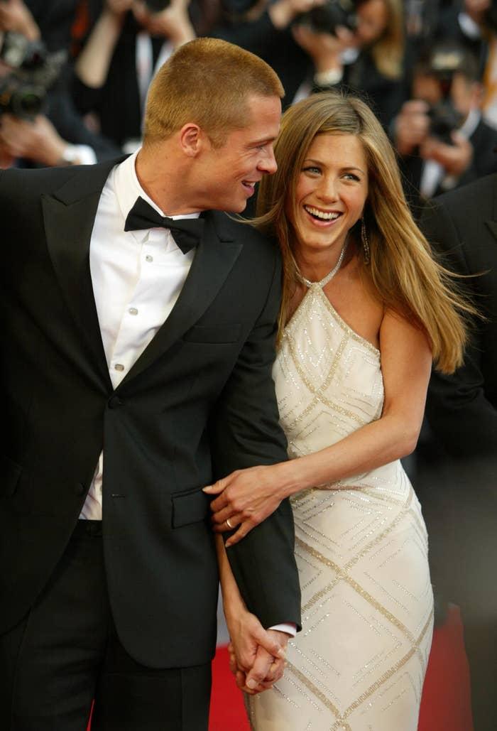 Actors Brad Pitt and Jennifer Aniston