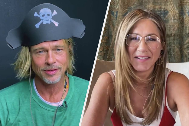 """Brad Pitt And Jennifer Aniston Sure Had A Memorable Reunion During The """"Fast Times At Ridgemont High"""" Table Read thumbnail"""