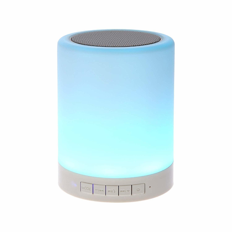 A blue LED speaker lamp