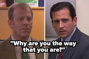 images of Toby and Michael from The Office