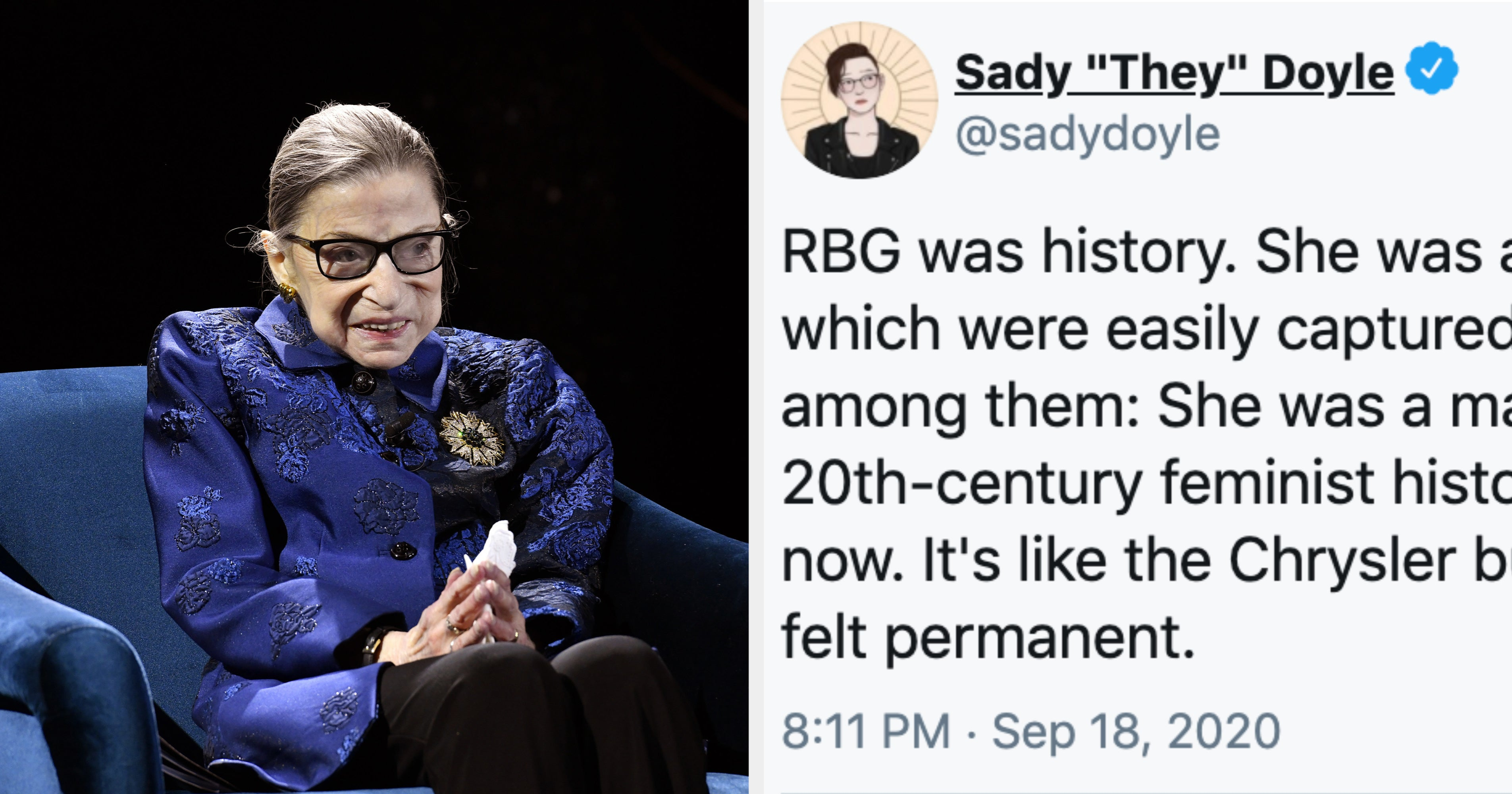 """People Are Remembering Ruth Bader Ginsburg As """"One Of The Last True Warriors"""" For Gender Equality"""