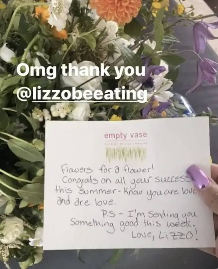 Lizzo sends Cardi B following divorce