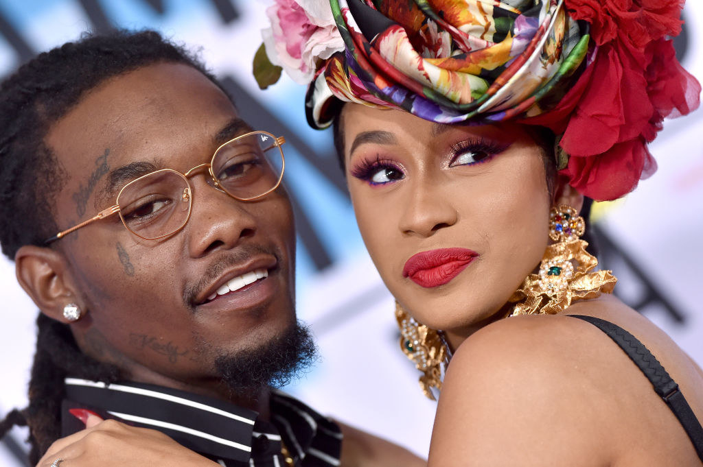 Cardi and Offset at the AMAs in 2018