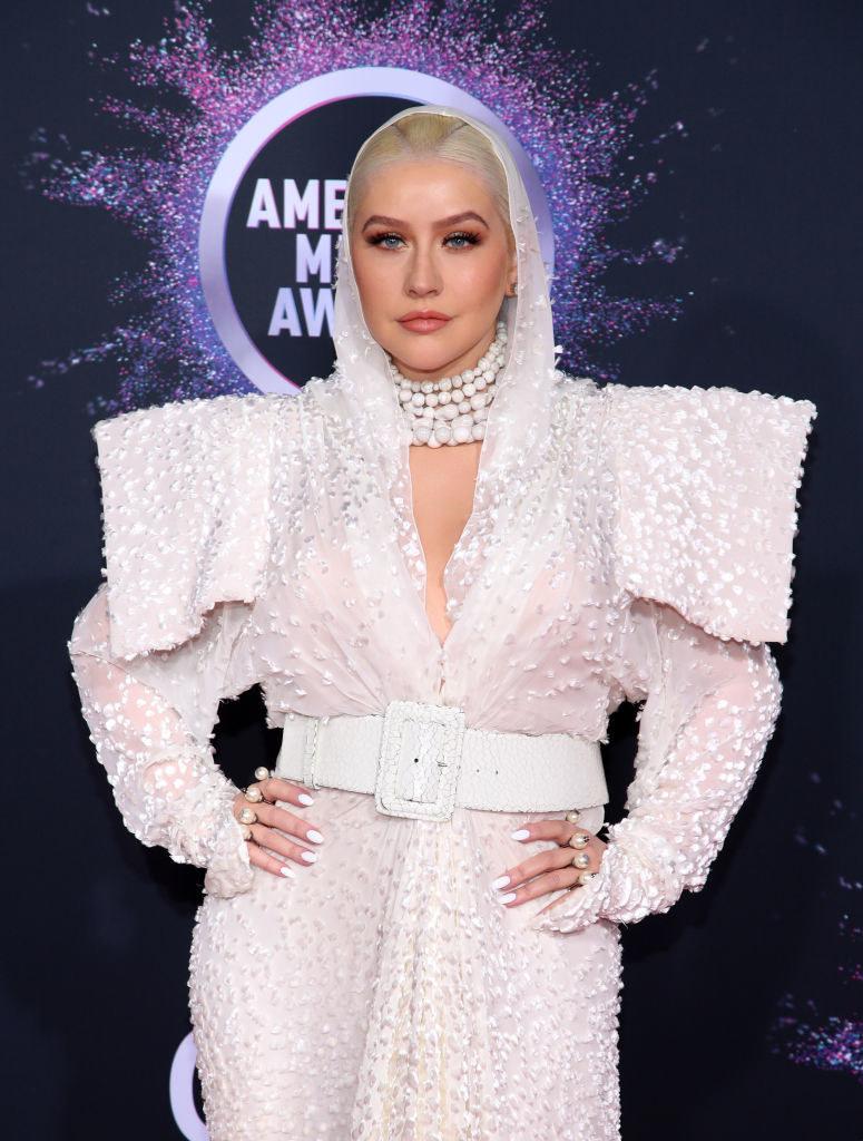 Christina Aguilera on a red carpet