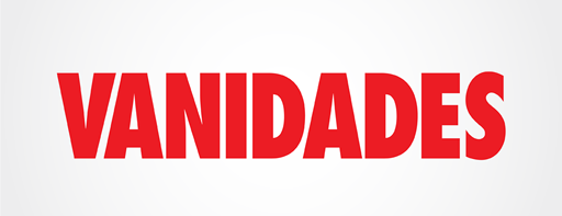 "The ""Vanidades"" logo in red lettering"