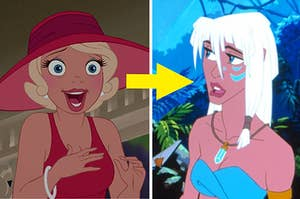 Charlotte from Princess and the Frog and Kida from Atlantis the lost empire