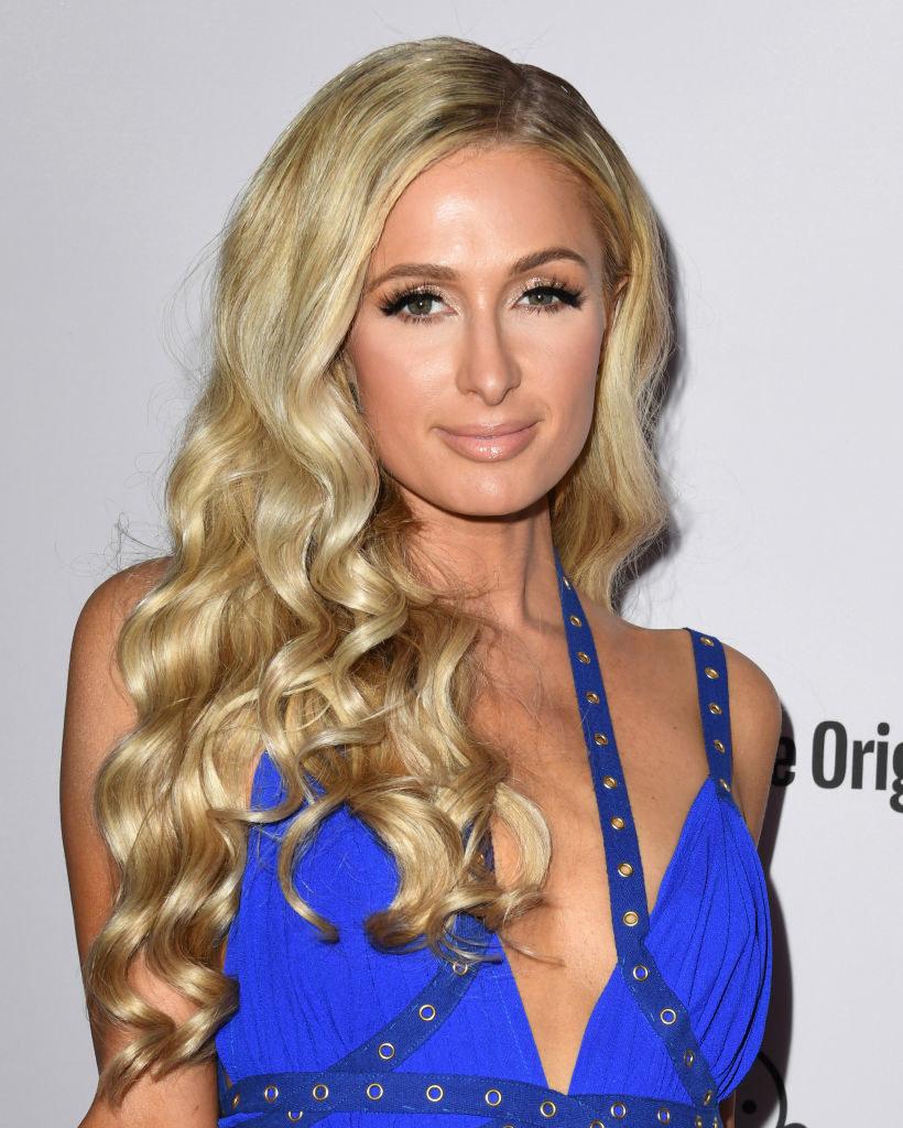 Paris Hilton poses at a Hollywood event
