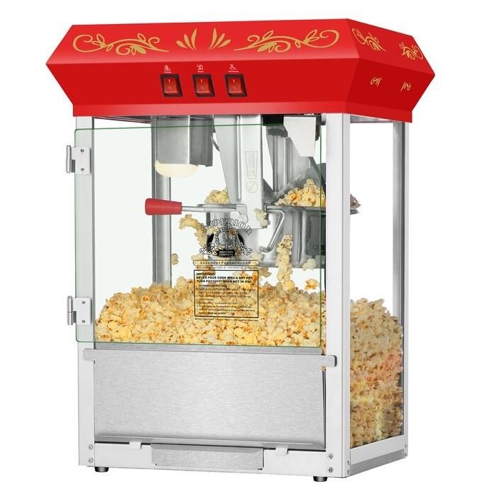 The large popcorn machine