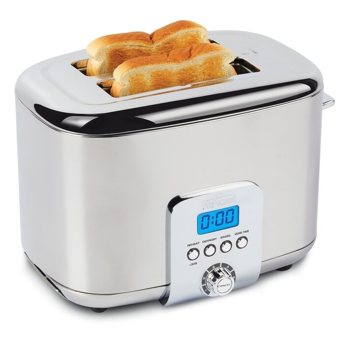 The silver toaster