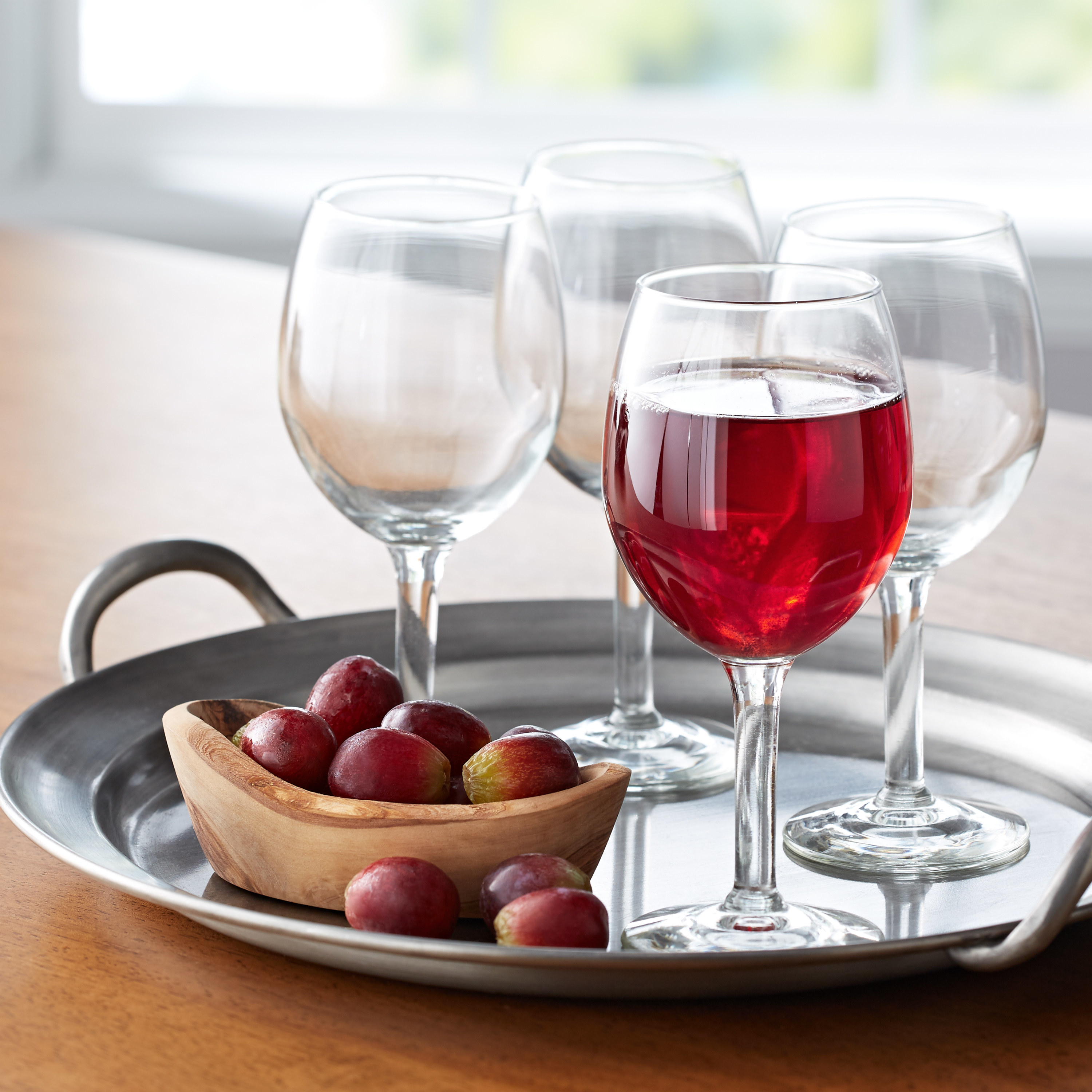 The four wine glasses