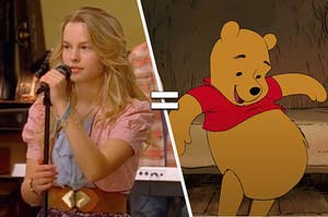 """Olivia from """"Lemonade Mouth"""" and Winnie the Pooh"""