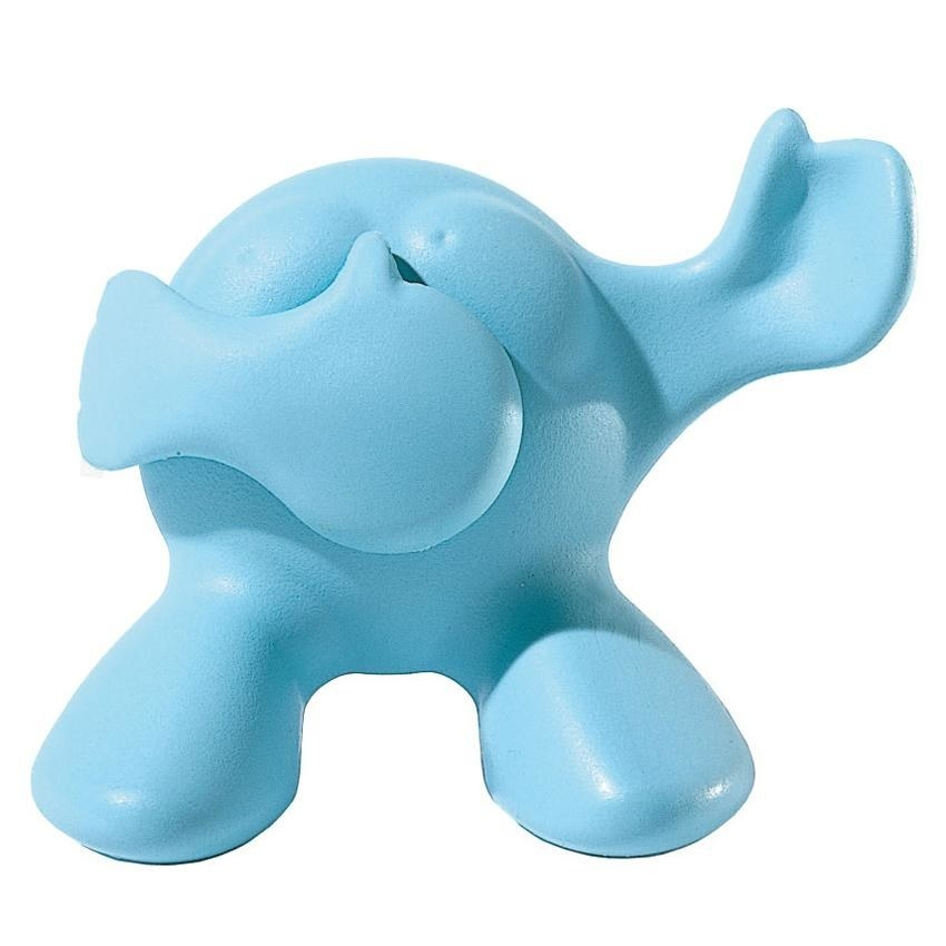 a blue creature with movable hands that'll open your toothpaste cap