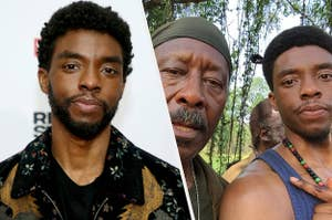 Side by side of Chadwick Boseman and Clarke Peters