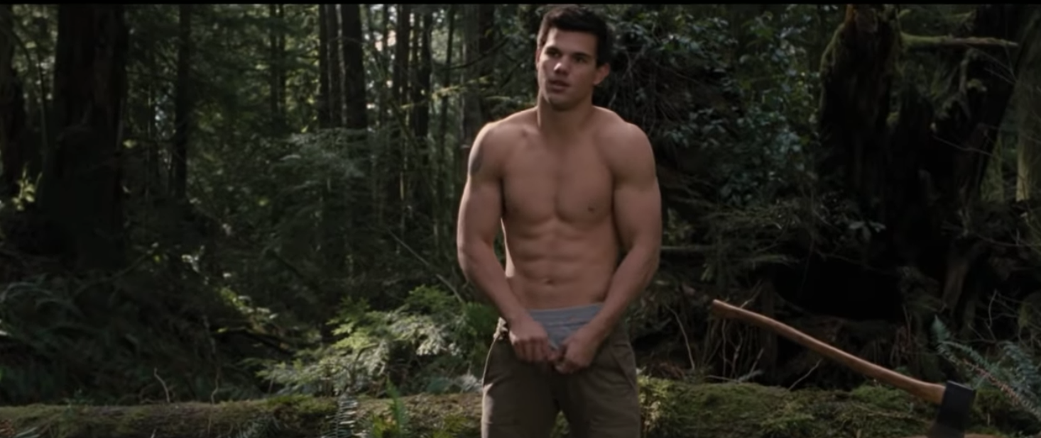 Jacob Black shirtless in Twilight: New Moon