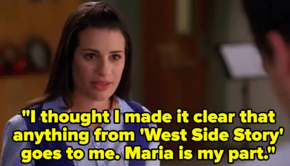 """Rachel says the part of  Maria from """"West Side Story"""" belongs to her"""