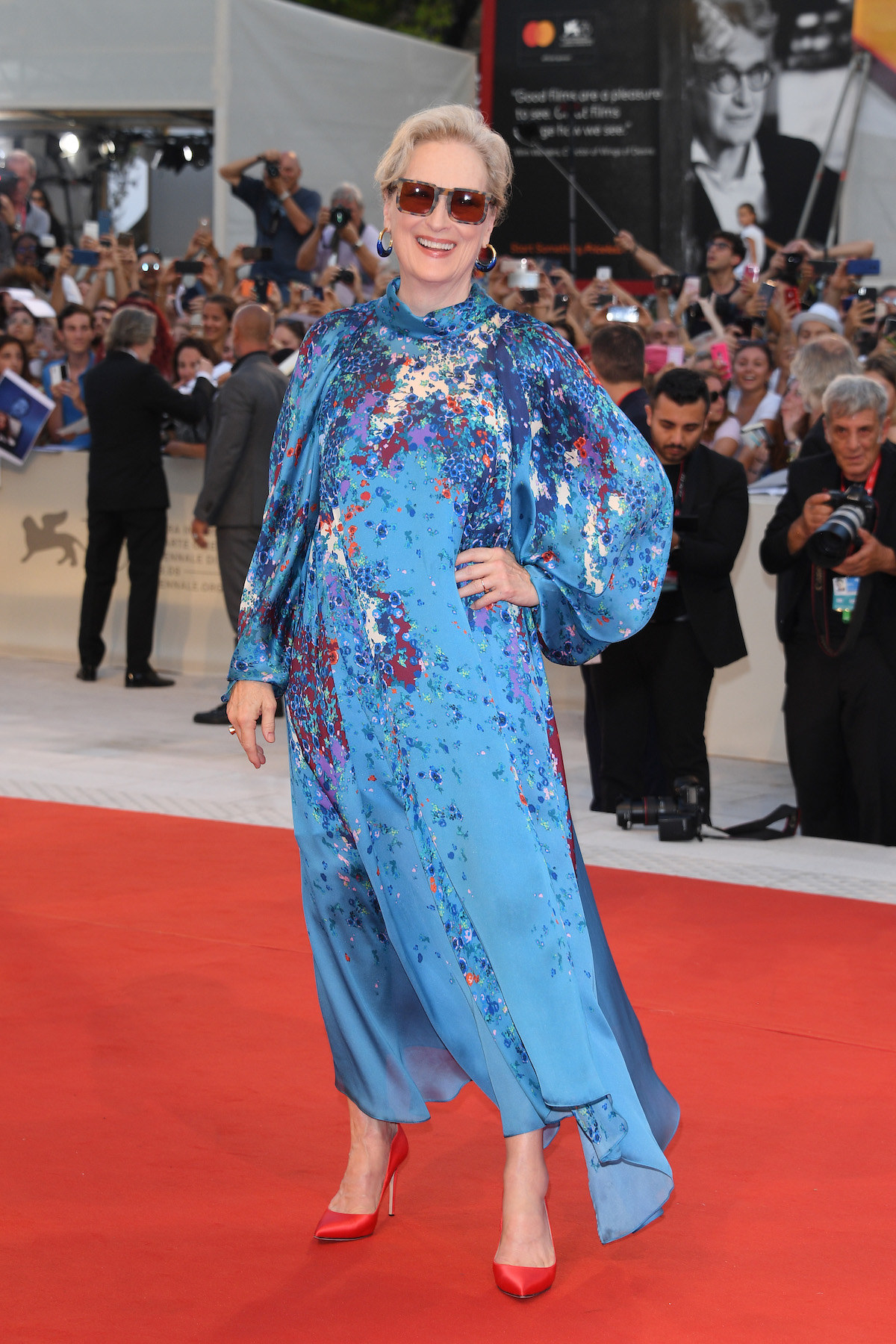 "Meryl Streep walks the red carpet ahead of the ""The Laundromat"" screening."