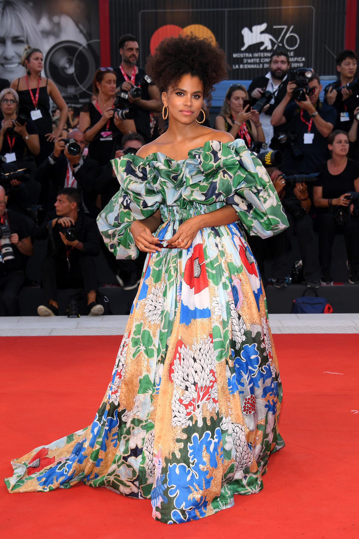 "Zazie Beetz attends the ""Joker"" screening during the 76th Venice Film Festival"