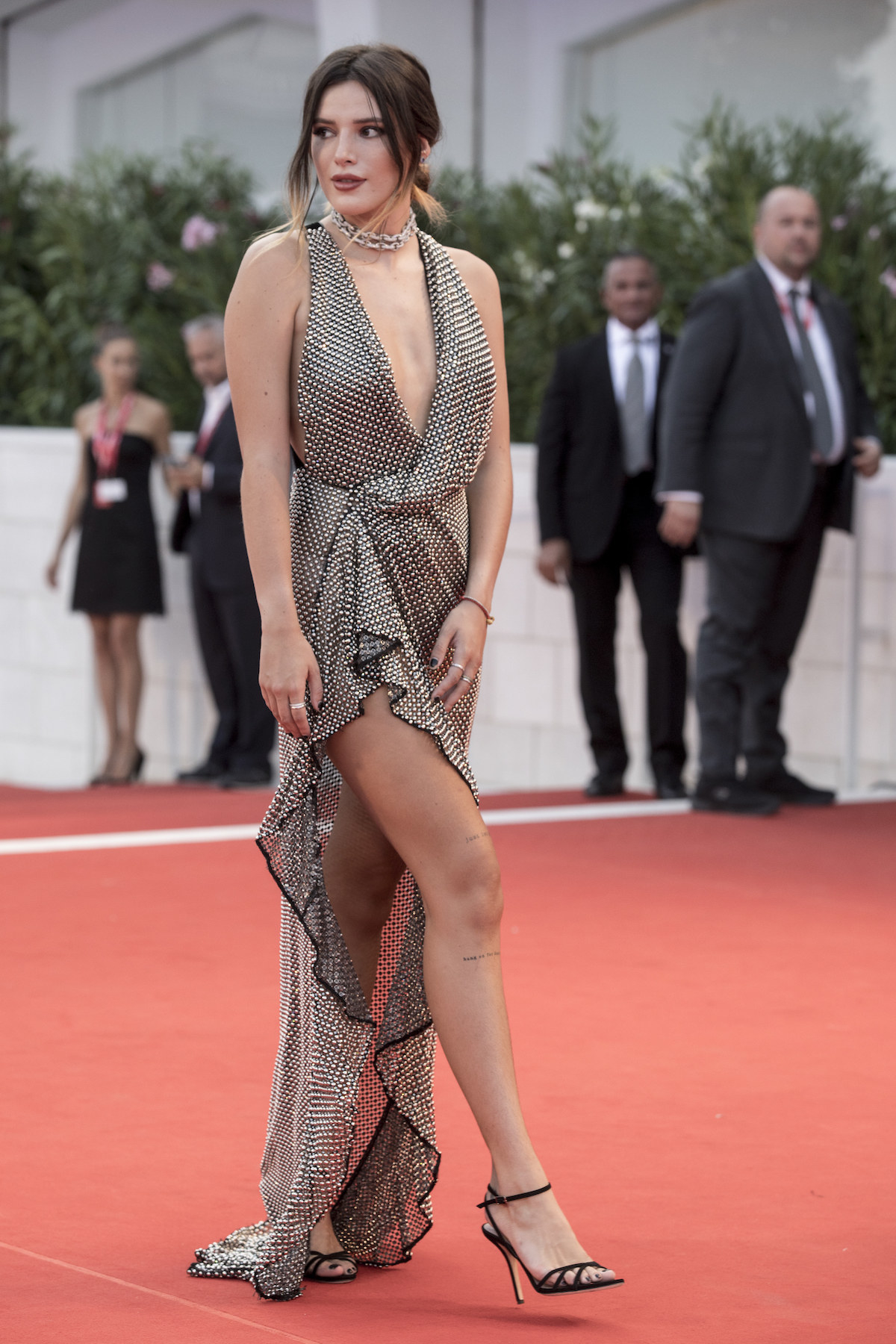 "Bella Thorne walks the red carpet ahead of the ""Joker"" screening during the 76th Venice Film Festival"