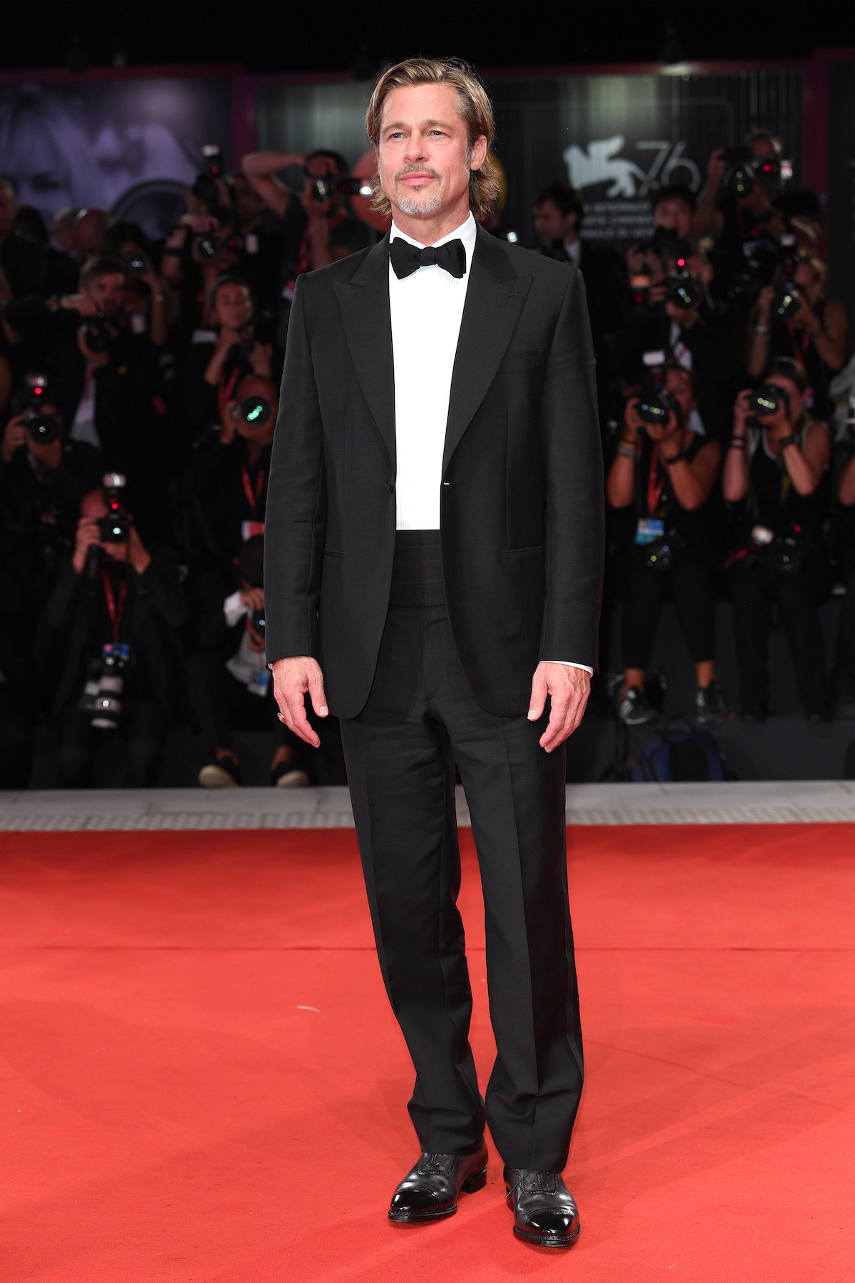 "Brad Pitt walks the red carpet ahead of the ""Ad Astra"" screening during the 76th Venice Film Festival"