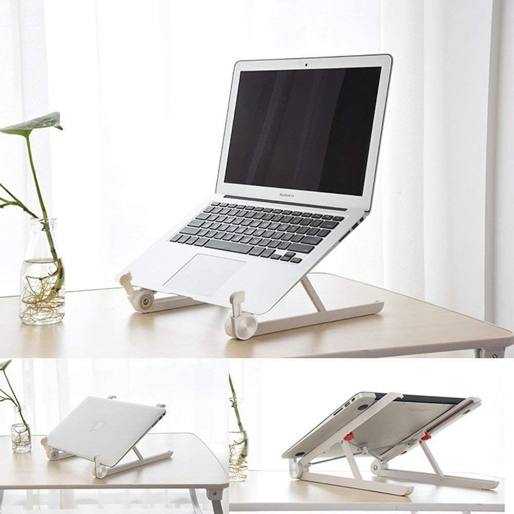 A foldable laptop stand