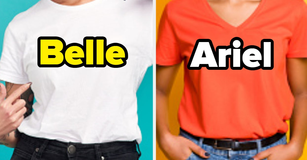 Pick A Shirt In Every Color To Determine Which Disney Princess You Are - buzzfeed