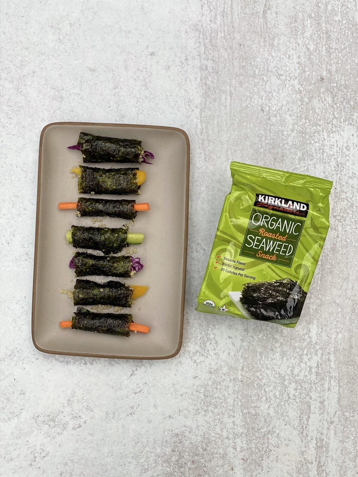 Seaweed Snack Quinoa Veg Wraps