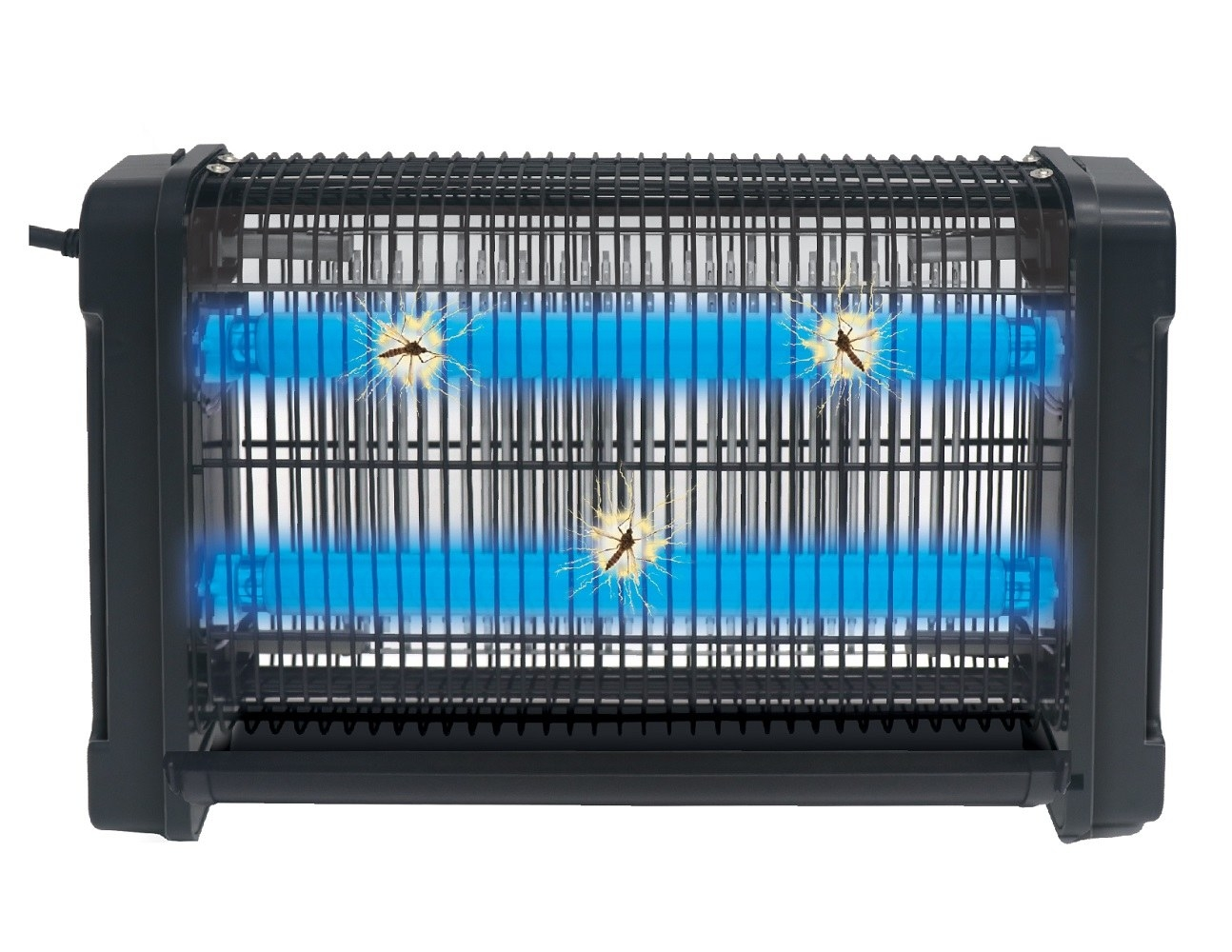black bug zapper with UV light to attract bugs