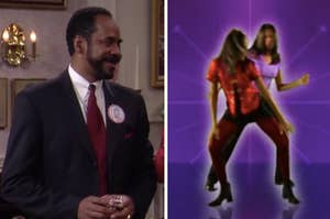 Ray on the left and tia and tamera dancing on the right