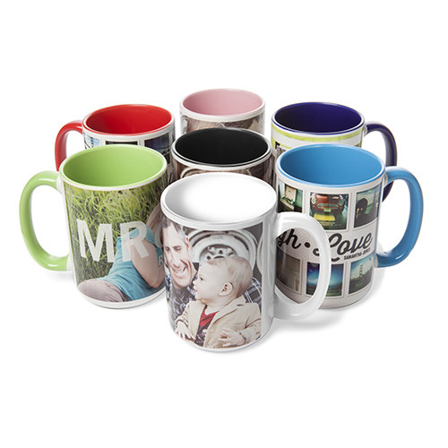 A group of mugs featuring a variety of custom designs