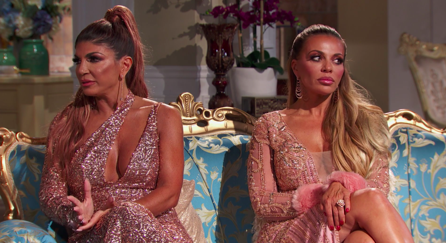 A still of Teresa Giudice and Dolores Catania in The Real Housewives of New Jersey