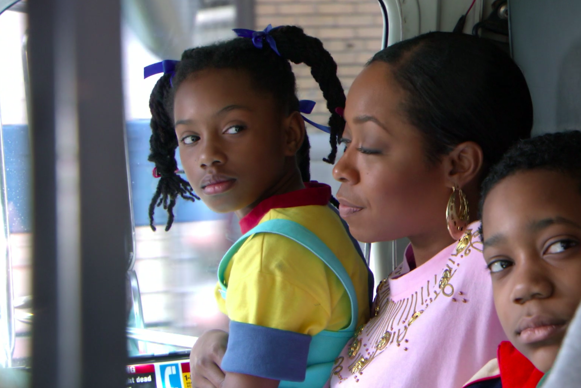 A still of Rochelle, Tonya, and Chris in Everybody Hates Chris