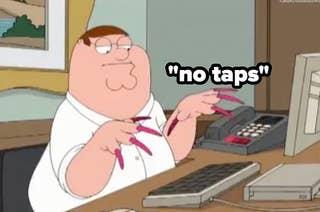 Hitting keyboard to someone who says