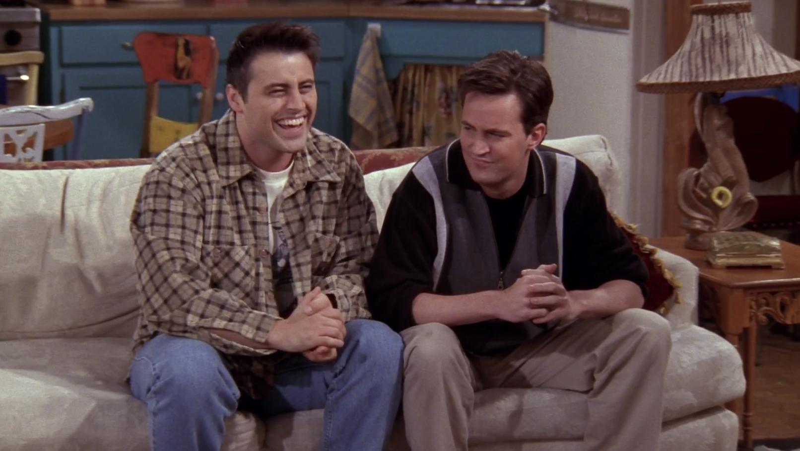 Joey giggles.