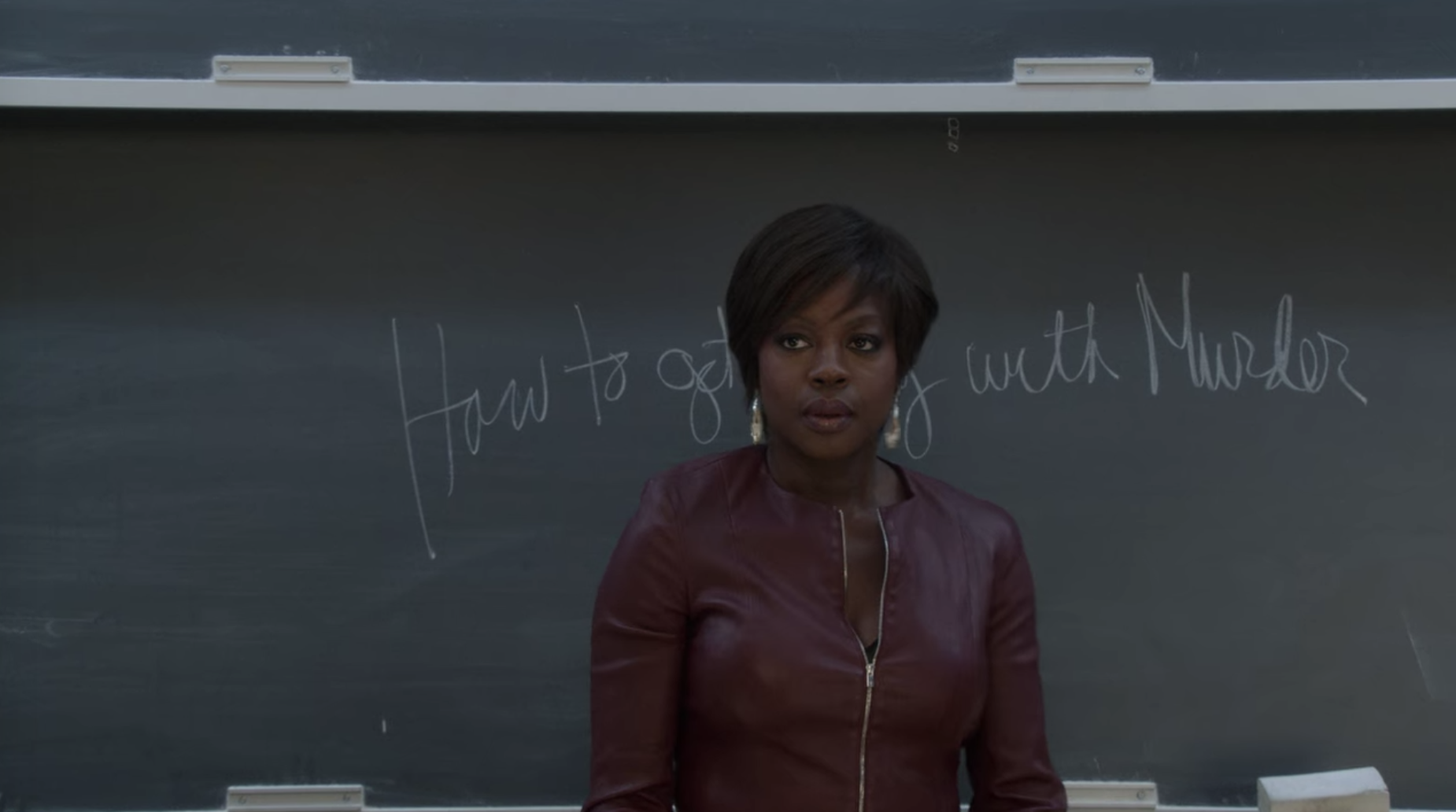 Annalise Keating introducing herself to the class.