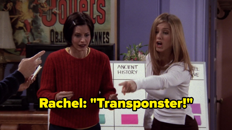 Rachel guesses Transponster.