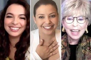 Isabella Gomez, Justina Machado, and Rita Moreno