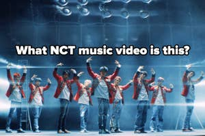 An image of NCT 127's music vide for Punch with the question what NCT music video is this written on it