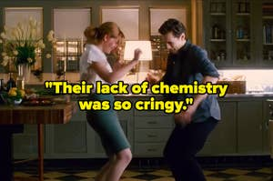 "Mary Jane and Harry dancing, captioned ""Their lack of chemistry was so cringy"""