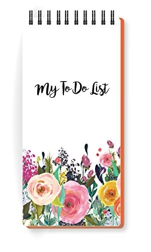 Memo pad with a floral design and the words 'My To Do List' printed on it.