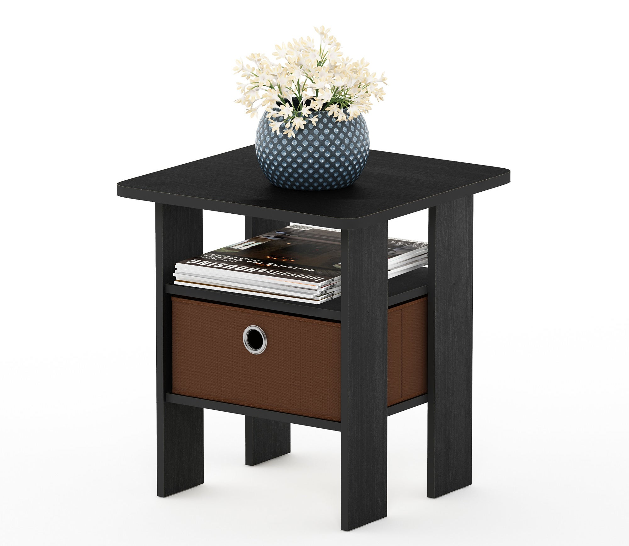 End table Nightstand in Americano/Medium Brown