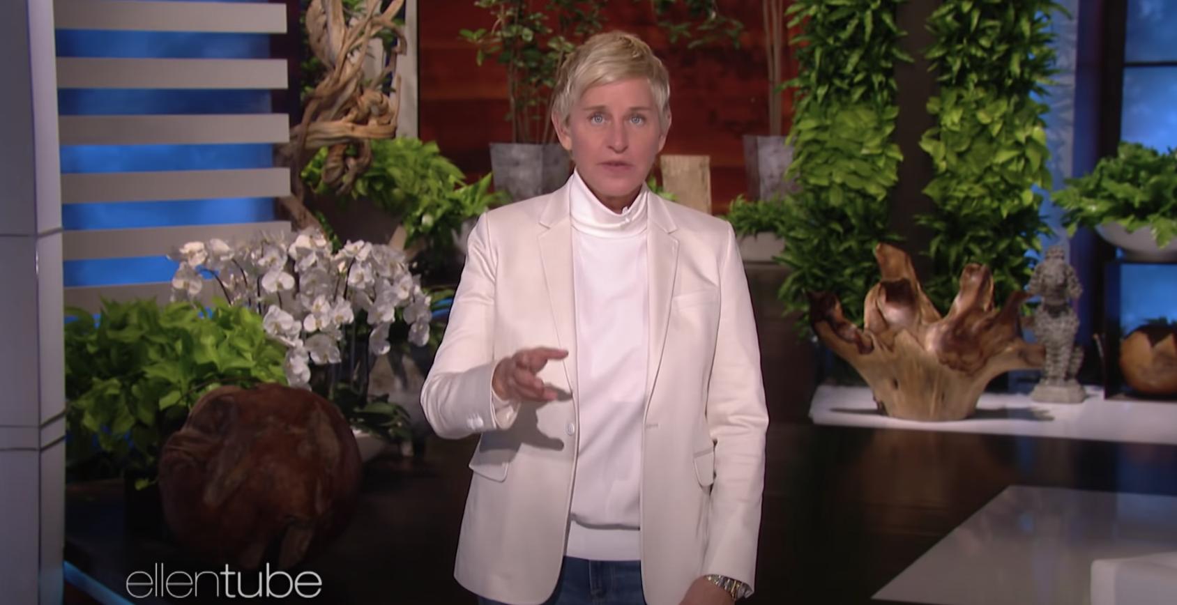 Ellen giving her apology monologue